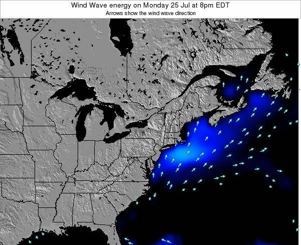 New-York Wind Wave energy on Friday 21 Jun at 2pm EDT