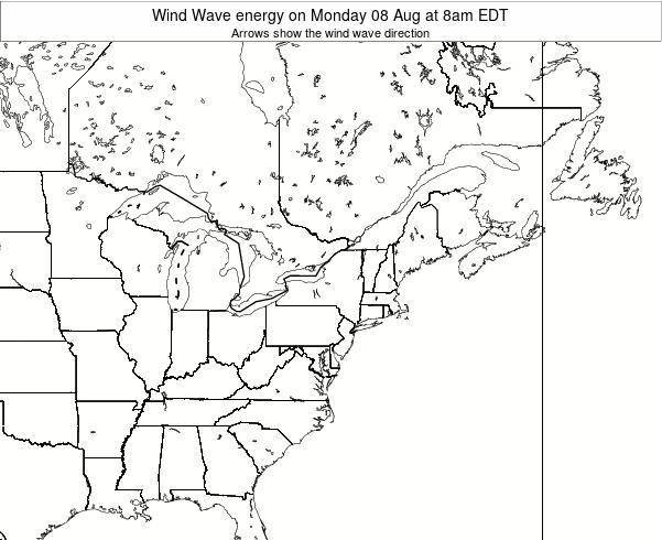Pennsylvania Wind Wave energy on Saturday 22 Jun at 2am EDT