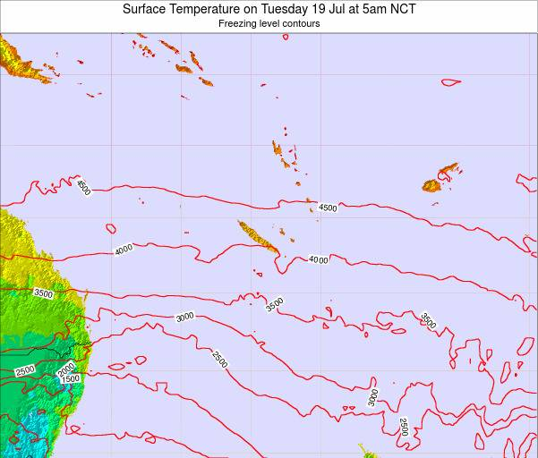 New Caledonia Surface Temperature on Sunday 26 May at 11pm NCT