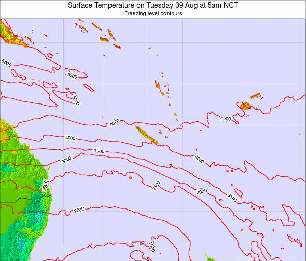New Caledonia Surface Temperature on Sunday 26 May at 5pm NCT