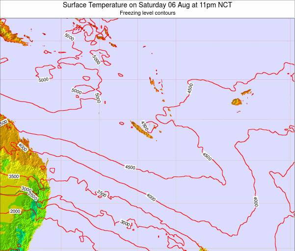 New Caledonia Surface Temperature on Friday 03 Oct at 11pm NCT