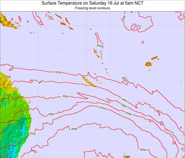 New Caledonia Surface Temperature on Sunday 26 May at 5am NCT