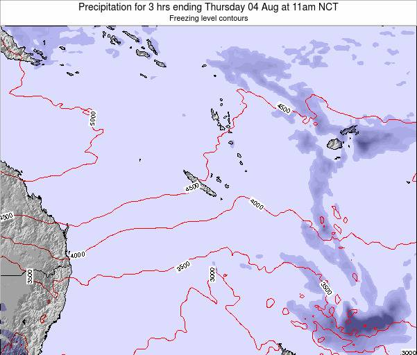 Vanuatu Precipitation for 3 hrs ending Friday 31 May at 5pm NCT