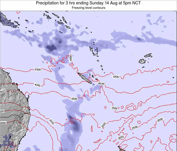 Vanuatu Precipitation for 3 hrs ending Monday 24 Jun at 11am NCT