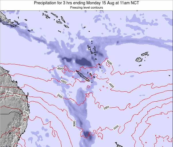 Vanuatu Precipitation for 3 hrs ending Tuesday 28 May at 11pm NCT