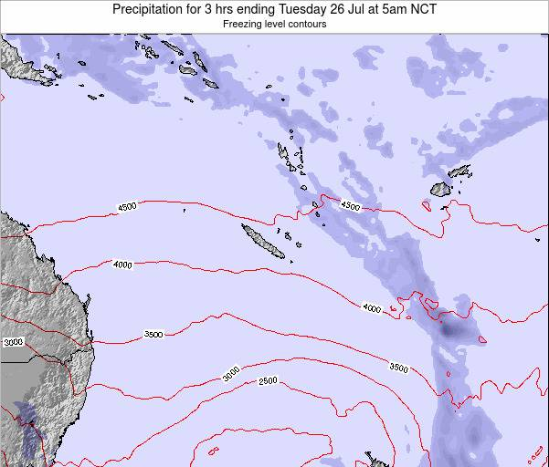 New Caledonia Precipitation for 3 hrs ending Saturday 18 May at 11pm NCT