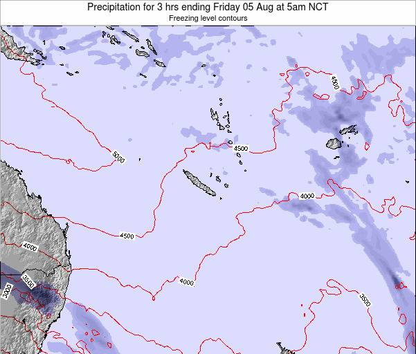 Vanuatu Precipitation for 3 hrs ending Saturday 22 Jun at 5pm NCT