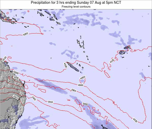 Vanuatu Precipitation for 3 hrs ending Tuesday 21 May at 11am NCT