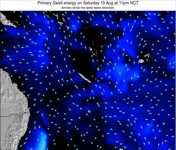 Vanuatu Primary Swell energy on Monday 27 May at 5pm NCT