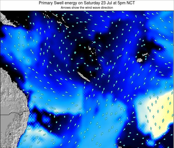 Vanuatu Primary Swell energy on Tuesday 26 Aug at 11am NCT