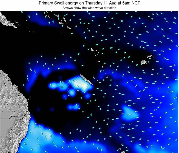 Vanuatu Primary Swell energy on Friday 16 Dec at 11pm NCT