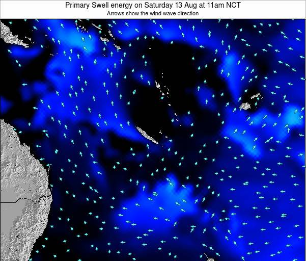 Vanuatu Primary Swell energy on Thursday 19 Dec at 5am NCT