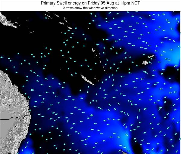 Vanuatu Primary Swell energy on Friday 25 Apr at 11pm NCT