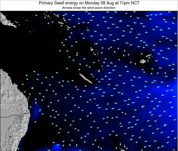 Vanuatu Primary Swell energy on Sunday 26 Oct at 11am NCT