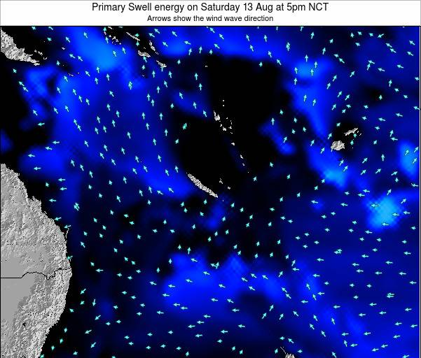 Vanuatu Primary Swell energy on Tuesday 29 Jul at 11pm NCT