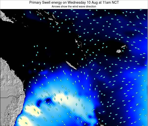 Vanuatu Primary Swell energy on Sunday 04 Sep at 11pm NCT