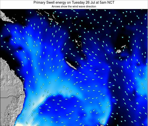 Vanuatu Primary Swell energy on Thursday 02 Mar at 11pm NCT