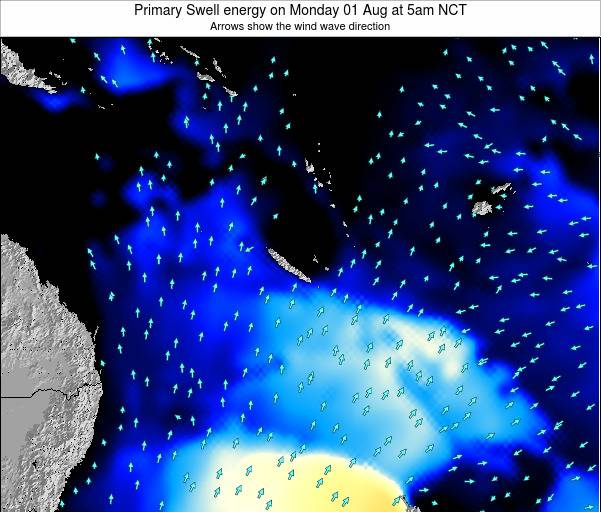 Vanuatu Primary Swell energy on Friday 04 Dec at 11pm NCT