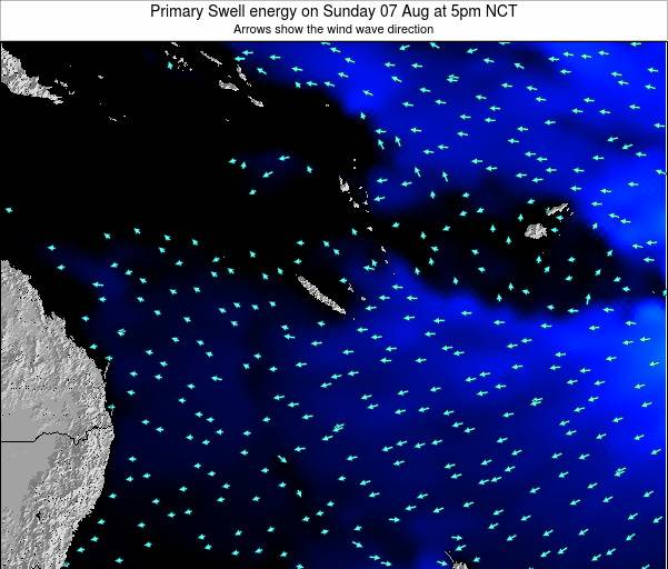 Vanuatu Primary Swell energy on Wednesday 29 Oct at 11am NCT