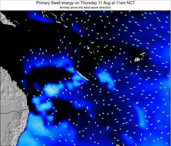 Vanuatu Primary Swell energy on Saturday 02 Jul at 11pm NCT