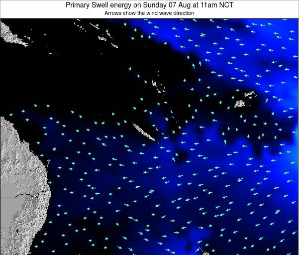 Vanuatu Primary Swell energy on Friday 26 Sep at 11pm NCT