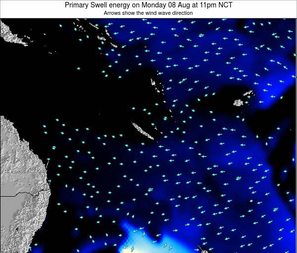 Vanuatu Primary Swell energy on Sunday 27 Jul at 11pm NCT