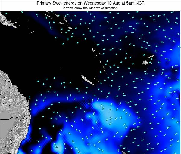 Vanuatu Primary Swell energy on Friday 13 Dec at 11am NCT