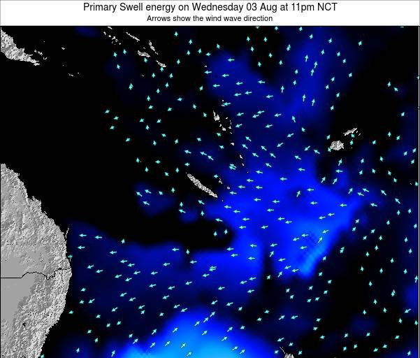Vanuatu Primary Swell energy on Sunday 02 Jul at 11pm NCT