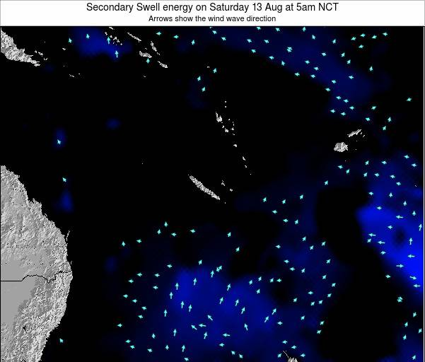 Vanuatu Secondary Swell energy on Wednesday 26 Jun at 11am NCT