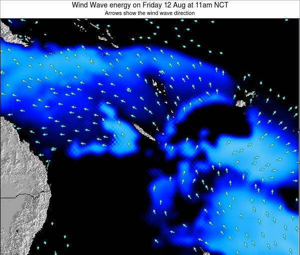 Vanuatu Wind Wave energy on Thursday 13 Mar at 11pm NCT