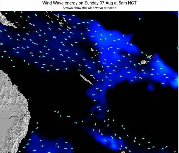 Vanuatu Wind Wave energy on Friday 30 Sep at 5am NCT