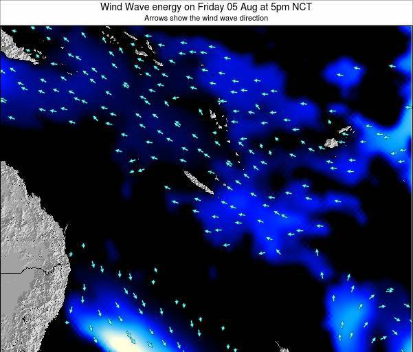 Vanuatu Wind Wave energy on Monday 23 Oct at 5am NCT