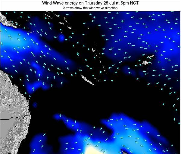 Vanuatu Wind Wave energy on Monday 28 Apr at 11pm NCT