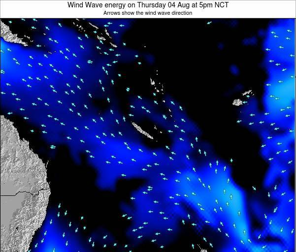 Vanuatu Wind Wave energy on Tuesday 10 Mar at 5am NCT