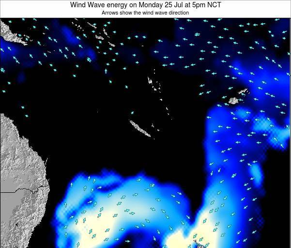 Vanuatu Wind Wave energy on Monday 28 Apr at 5pm NCT