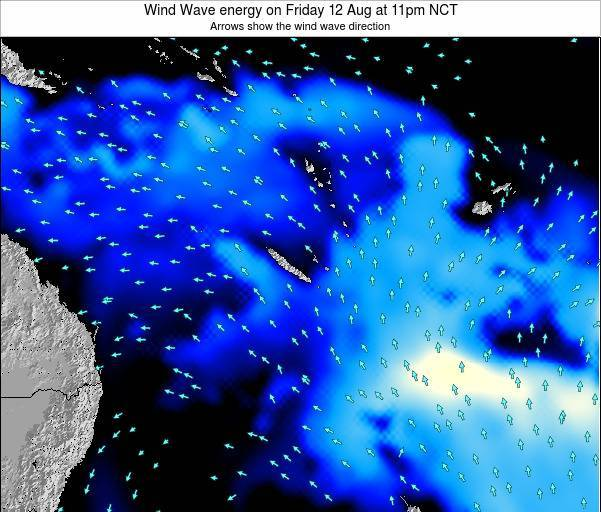 Vanuatu Wind Wave energy on Monday 02 Oct at 5am NCT