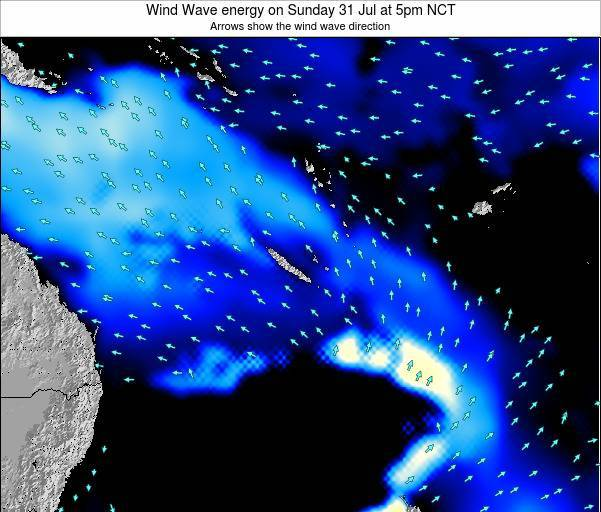Vanuatu Wind Wave energy on Friday 13 Mar at 5am NCT