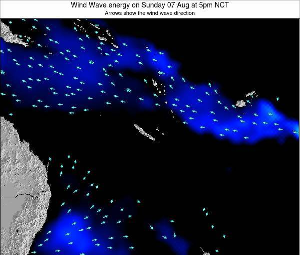 Vanuatu Wind Wave energy on Saturday 26 Apr at 5am NCT