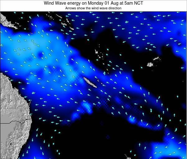Vanuatu Wind Wave energy on Sunday 22 Dec at 5pm NCT