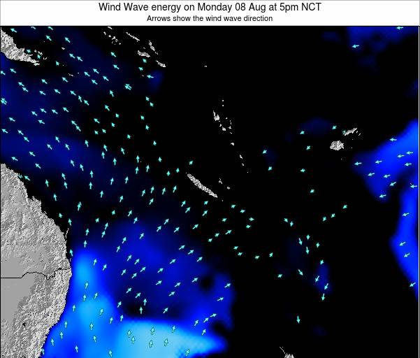 Vanuatu Wind Wave energy on Sunday 26 Oct at 5pm NCT