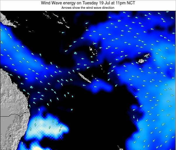 Vanuatu Wind Wave energy on Wednesday 12 Mar at 11pm NCT