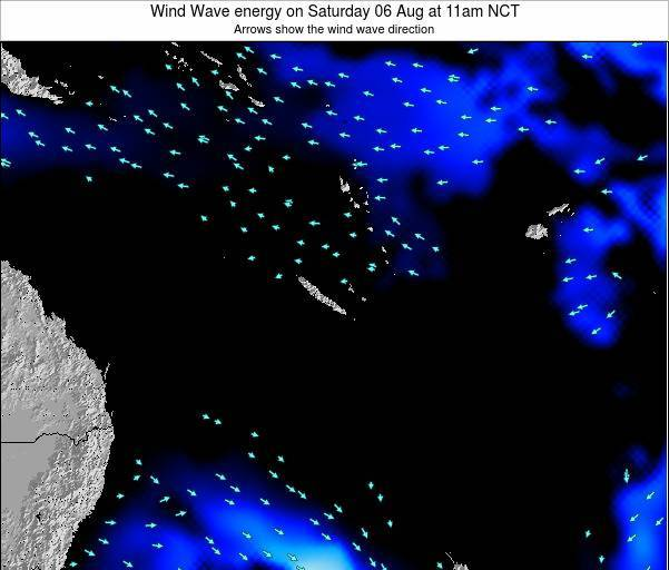 Vanuatu Wind Wave energy on Tuesday 29 Jul at 5pm NCT