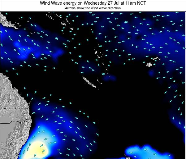 Vanuatu Wind Wave energy on Tuesday 28 May at 11am NCT