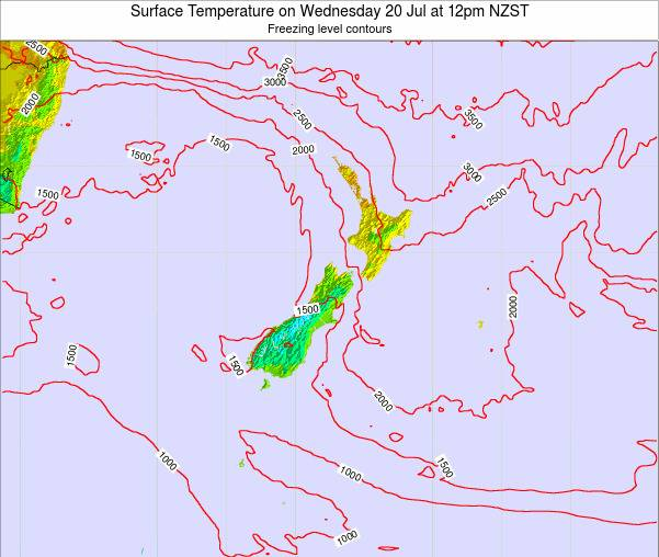 New Zealand Surface Temperature on Thursday 23 May at 6pm NZST