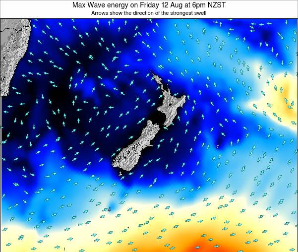 New Zealand Max Wave energy on Monday 28 Jul at 6pm NZST