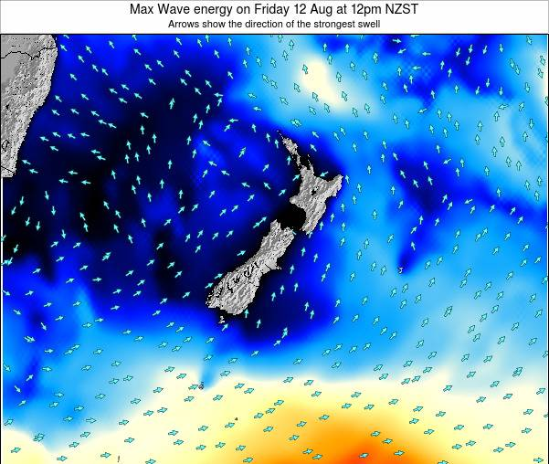 New Zealand Max Wave energy on Friday 31 Mar at 7pm NZDT