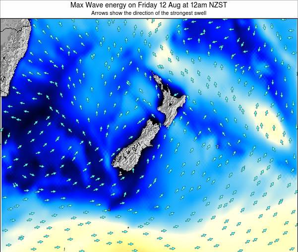 New Zealand Max Wave energy on Tuesday 05 Aug at 12am NZST