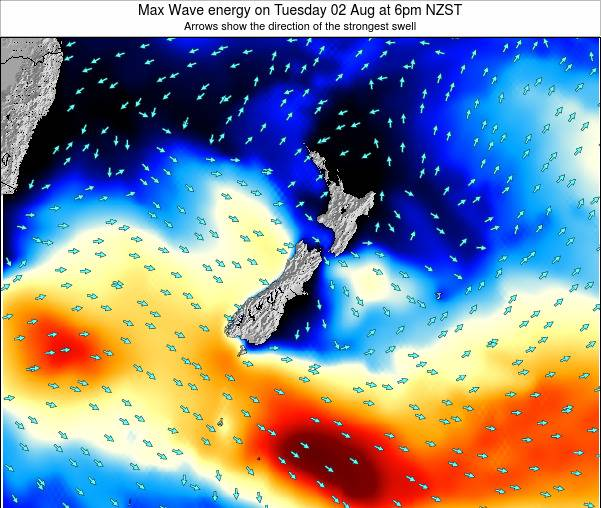 New Zealand Max Wave energy on Friday 24 May at 12pm NZST