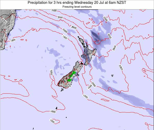 New Zealand Precipitation for 3 hrs ending Thursday 23 May at 12am NZST