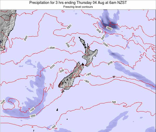 New Zealand Precipitation for 3 hrs ending Monday 27 May at 6pm NZST